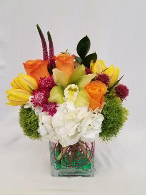 Brighter Days Vase Arrangement in Boca Raton, FL | Flowers of Boca