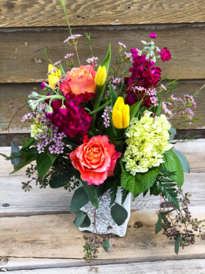 Brighter Days  Vase Arrangement in Iowa City, IA | Every Bloomin' Thing