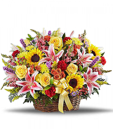 Brighter Times Basket Arrangement