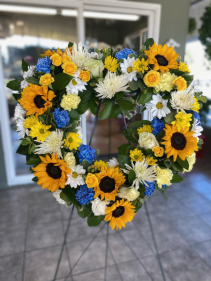 Brighter Times Heart Wreath