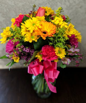 Brightest Birthday Vase Arrangement in Lebanon, NH | LEBANON GARDEN OF EDEN FLORAL SHOP