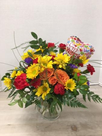 Brightest Valentine Vase