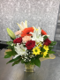Brightly Beautiful Bouquet  Cube vase