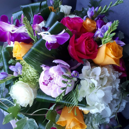 Saphire Mixed  Bouquet Hand-tied