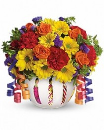 Brilliant Birthday Blooms Teleflora