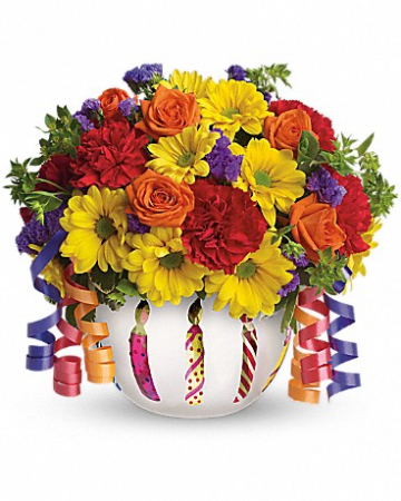 "Brilliant Birthday Blooms T28-1 11.25""(w) x 10.5""(h)"