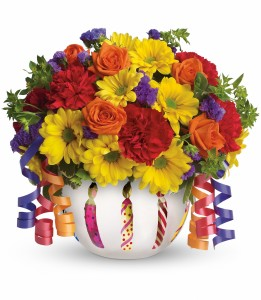 Brilliant Birthday Blooms T28-1A Teleflora