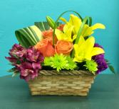 Brilliant Blooms Basket