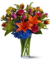 Brilliant blooms  Vase