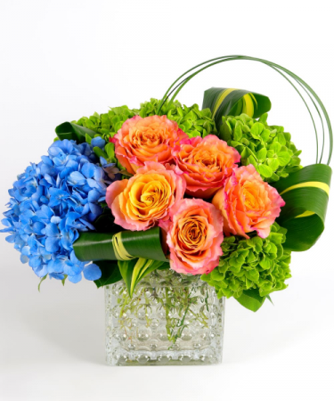 BRILLIANT BLOOMS Vase Arrangement