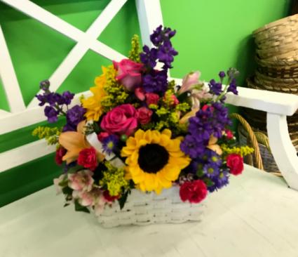 Brilliant Blossoms basket