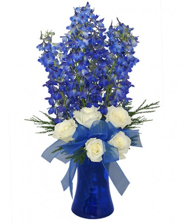 Brilliant blue bouquet of flowers in colorado springs co colorado brilliant blue bouquet of flowers mightylinksfo