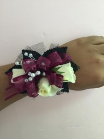 Brilliant Burgundy  Corsage