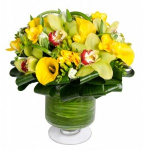 Brilliant Orchid Flower Arrangement