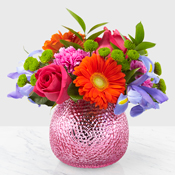 Brilliant Springtime! vase in Claremont, NH   FLORAL DESIGNS BY LINDA PERRON