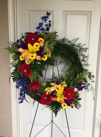 Brilliant Sympathy Wreath  Funeral Wreath