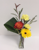 Bring on spring! mixed flowers in a vase