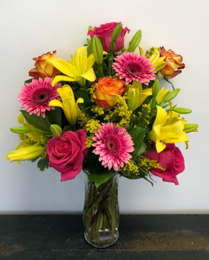 Bring on the Happy Vase Arrangement in Bluffton, SC | BERKELEY FLOWERS & GIFTS
