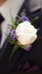 Bring on the purple Boutonnière