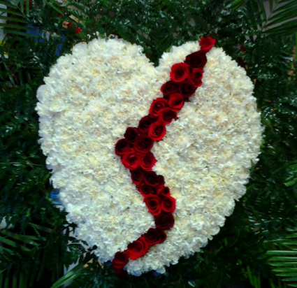BROKEN HEART FUNERAL ARRANGEMENT