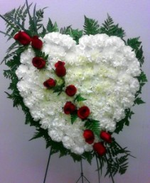 Broken heart funeral spray, MO-115 Fresh floral