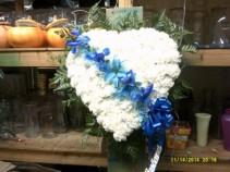Broken Heart of Blue standing spray