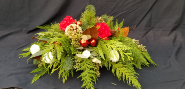 Bronze Flower Christmas Arrangement