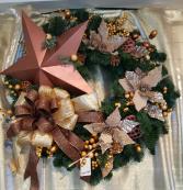 Bronze Glamourous  Permanent Wreath