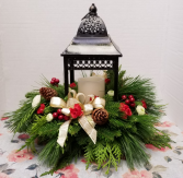 Bronze Lantern arrangement Christmas Centerpiece