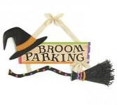 Broom Parking Halloween Sign Seasonal Gift