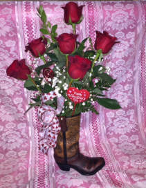 Brown Rose Boot
