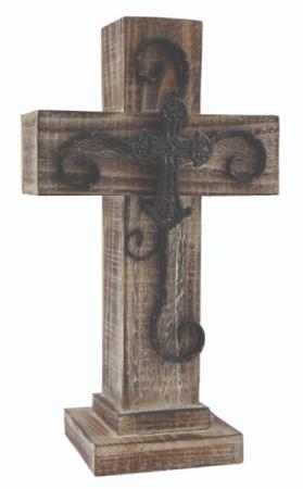 Brown Wooden Cross 16 Inch Brown Cross in Beech Grove, IN | THE ROSEBUD FLOWERS & GIFTS