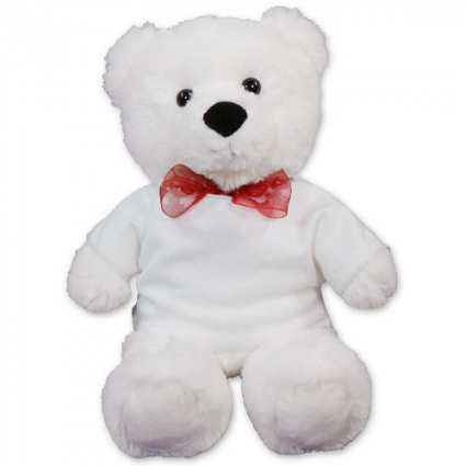 WHITE LOVELY BEAR VALENTINE
