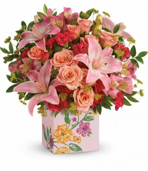 Brushed With Blossoms Bouquet Teleflora in Mount Pearl, NL | MOUNT PEARL FLORIST