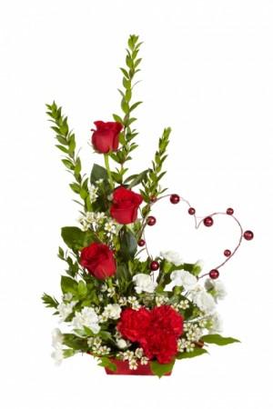 SENDING MY LOVE Low Arrangement in Fairfield, CA | ADNARA FLOWERS & MORE