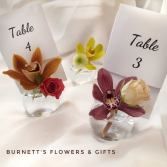 Bubble Table Number Centerpiece  Wedding Flowers
