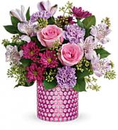 Bubbling Over Bouquet T19S100 vase arrangement