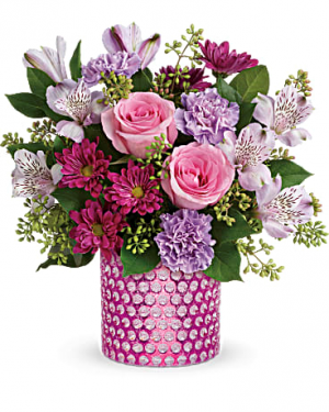 Bubbling Over Premium Cylinder Arrangement in Warrington, PA | ANGEL ROSE FLORIST INC.