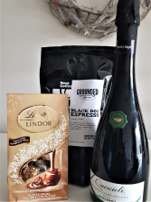 THREE'S COMPANY ITALIAN BUBBLY, LOCAL COFFEE AND CHOCOLATES