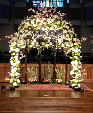 Bubbly Enchantments Altar Arrangement in Halifax, NS | Twisted Willow
