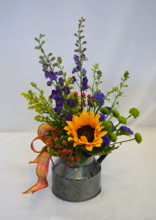 BUCKET FULL OF BOUNTY Flower Arrangement