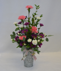 Bucket Full of Poisies Flower Arrangement