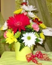 Bucket O' Posies Flower Arrangement