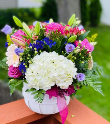 Bucket of Blooms basket