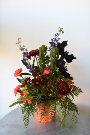 Bucket of BOO!  in La Grande, OR | FITZGERALD FLOWERS