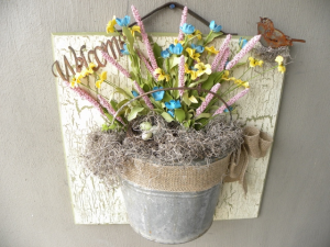 Bucket of Joy Handcrafted Country Decor in Sutton, WV | COUNTRY CHARM FLORAL