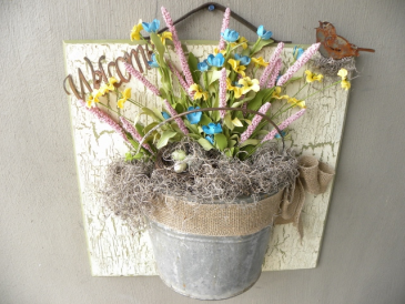 Bucket of Joy Handcrafted Country Decor
