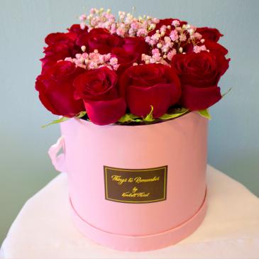 Bucket of Passion Elegant Flower Arrangement