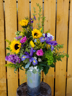 Bucket of Sunshine  in Caldwell, ID | Bayberries Flowers & Gifts