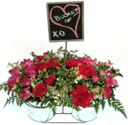 Buckets of Love Container Arrangement